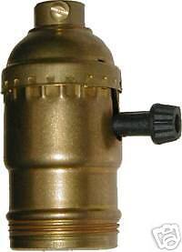 Antique Electric Lamp Brass Turn Knob Socket Ab9548 Ebay