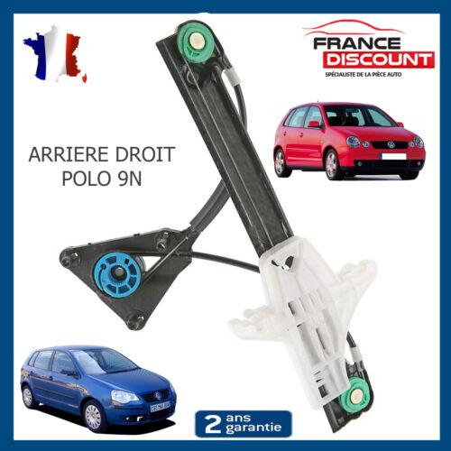 2001-2009 5 Portes 6q4839462 Mecanisme Leve Vitre Arriere Droit Vw Polo 9n