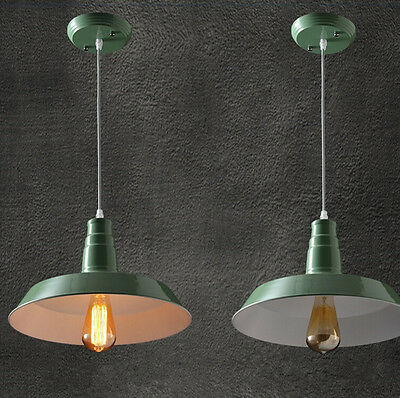 Industrial Retro Vintage Style Ceiling Pendant Lamp Light 26CM 36CM Metal Shade