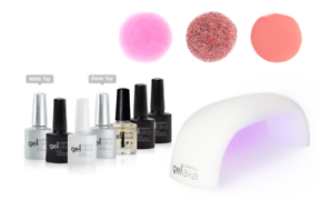 Gellaka Nail Gel Kit with Accessories and 3 Colors_Chip-Free, Lasting Manicure