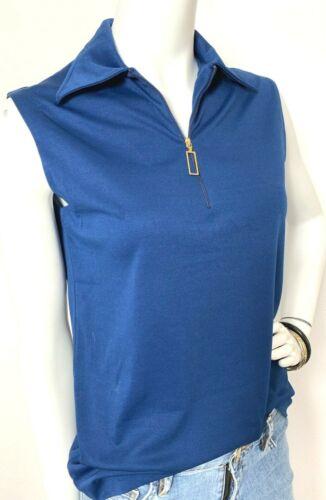 Vintage 60s 70s Harburt Knit Top Wide Collar Half