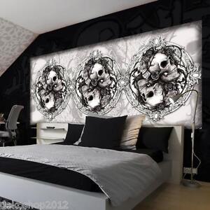 Das Bild Wird Geladen Vlies Fototapeten Fototapete Bild Wand Tapete Alchemy Totenkopf