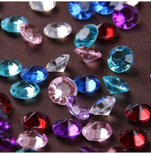 500 MULTI WEDDING DECORATION Scatter Table Crystals DIAMONDS ACRYLIC Crystal UK