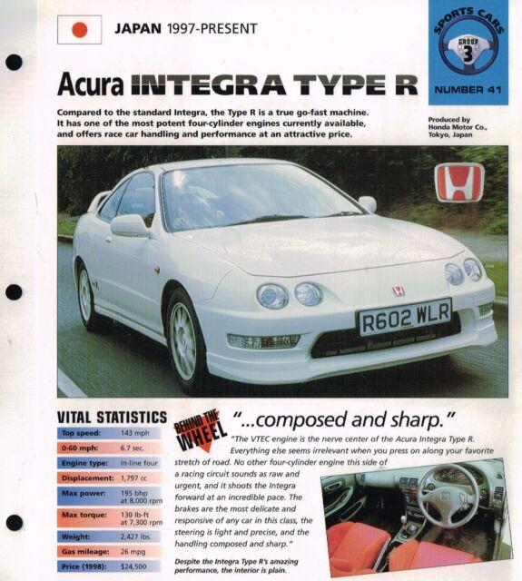 1997 / 1998 ACURA INTEGRA Type R IMP Brochure