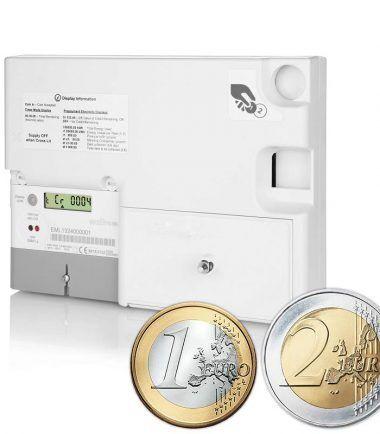 Landlords Emlite EURO Prepayment Digital Coin Meter Sunbed To Let Rent Holiday