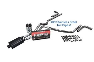 """04-14 Ford F-150 2.5/"""" Dual Exhaust Flowmaster Super 44 Corner Exit"""