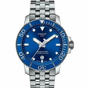 New-Tissot-Seastar-1000-Automatic-Blue-Dial-Men-039-s-Watch-T120-407-11-041-00
