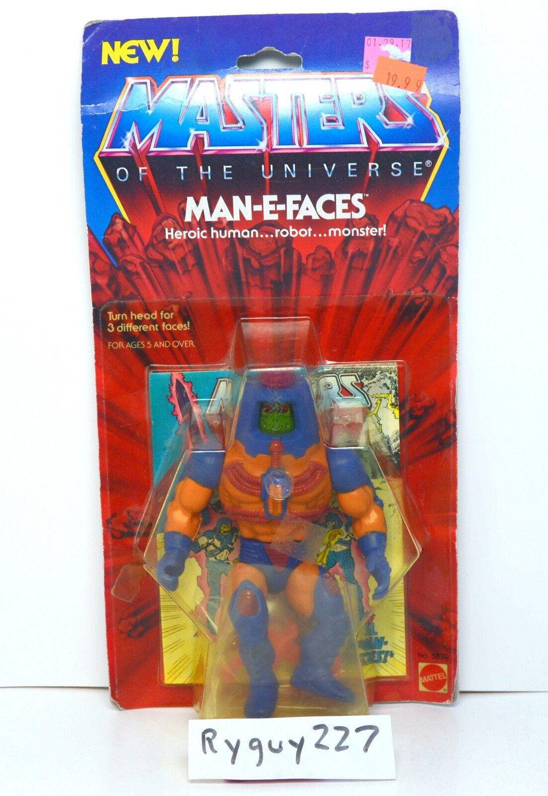 MOTU, Man-E-Faces, Masters of the Universe, MOC, carded, figure, sealed, He Man