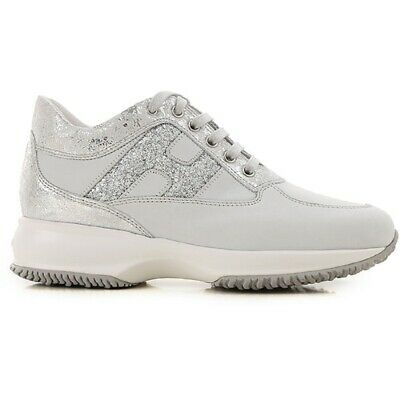 HOGAN shoes interactive woman sneaker in suede HXW00N0S361KFT0QCE ice   eBay