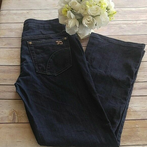 JOE'S JEANS Honey Fit CROPPED JEANS Dark PERRY Wash Size 27 EUC