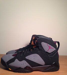 new product 940b8 0eb8a Details about Nike Air Jordan 7 Bordeaux 2016 Size 9 PRE OWNED -Yeezy Boost  NMD Bred Satin