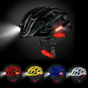 Fahrradhelm-MTB-Helm-Mountainbike-Helm-Herren-amp-Damen-Visier-Helmschild-Licht