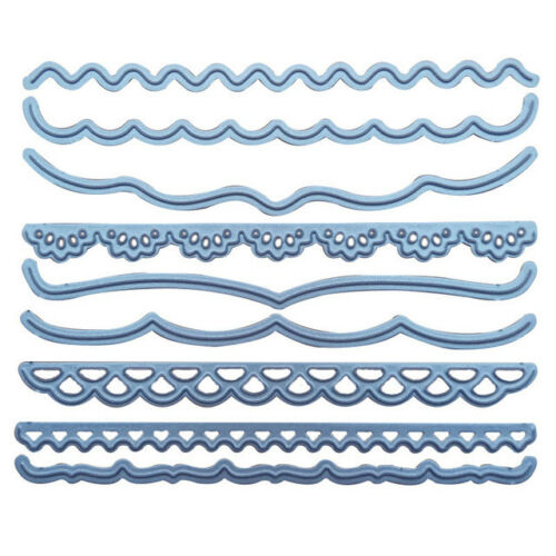 Cutting Dies  Vintage Lace Embrossing Curved Wavy Border Curved Wavy Border Edge