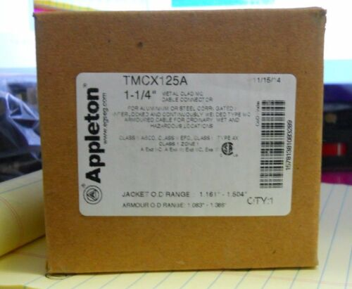 """APPLETON CABLE CONNECTOR TYPE TMCX125A 1-1//4/"""""""