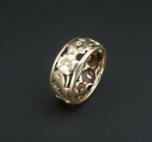 Vintage Always Wide Band Design Ring 925 Sterling Silver RG 4125