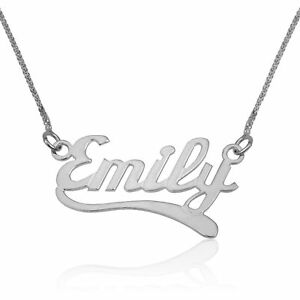 Details about Name Necklace 925 Sterling Silver Customized Jewelry  Personalized Gift For Her