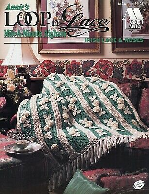 Victorian Lace Afghan ~ Mile-A-Minute 12-Hour Time Saver crochet pattern leaflet