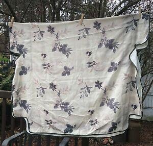 Vintage Bed Canopy Leaf Beige Gray Purple Twin Size