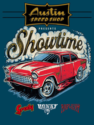 Metal Vintage SHABBY-CHIC Austin Speed Shop Plaque//Frigo Magnétique