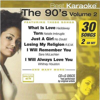 Best Karaoke Cd+g Best44 The 90's Vol.2 Cdg Choice Materials 2 Disc Set