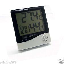 Digital TEMP Humidity Clock Thermometer Hygrometer Luftfeuchtigkeitsmesser