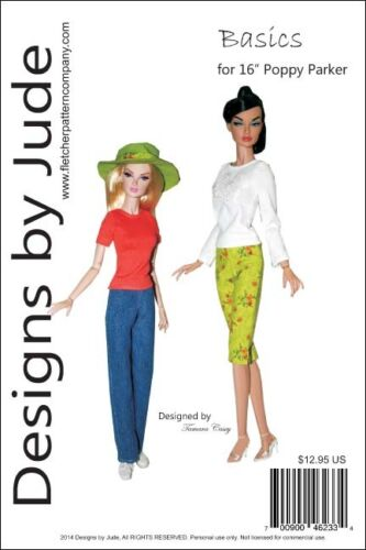 """Basics Doll Clothes Sewing  Pattern for 16/"""" Poppy Parker /& Tullabelle Integrity"""