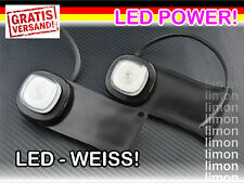 2x LED Begrenzungsleuchte Umrissleuchte WEISS Flexibel 12V 24V LKW Anhänger K340