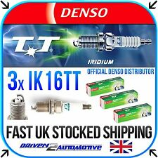 3x DENSO IK16TT SPARK PLUGS FOR OPEL CORSA D Van 1.0 07.06 -