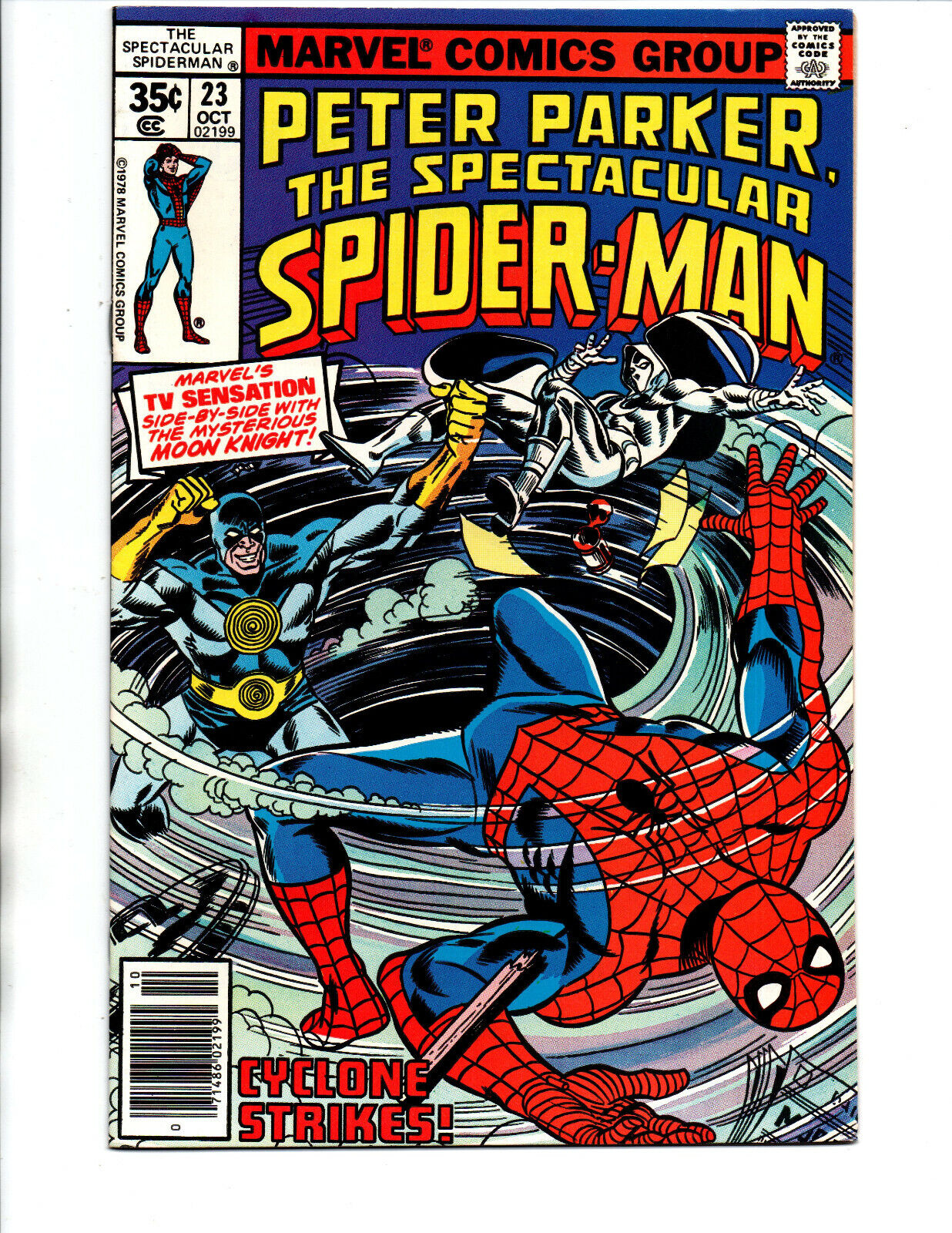 Peter Parker the Spectacular Spider-man #23 newsstand - Moon Knight -1978- VF/NM