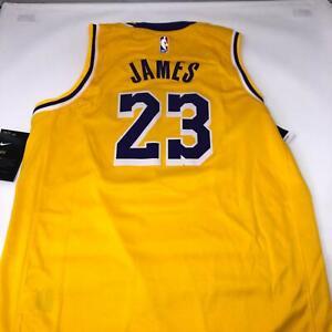 Nike LeBron James #23 Los Angeles Lakers Icon Gold Swingman Jersey ...
