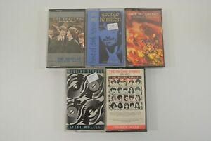 Beatles & Rolling Stones Paul McCartney George Harrison Lot of 5 Cassette Tapes