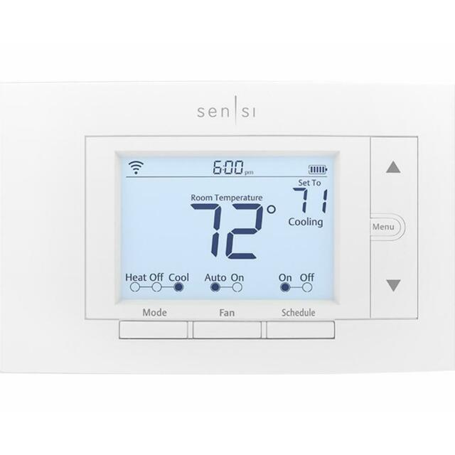 Sensi WiFi Smart Thermostat Auto Changeover Programmable Home Heating Cooling