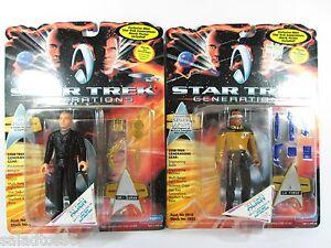 Star Trek Dr. SORAN & LA FORGE Next Generations Playmates Figures