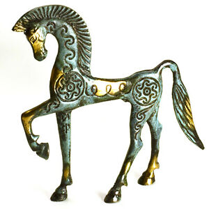 Bronze-Horse-20-X-16-cm-6-X-8-Inches-Ancient-Greek-Art-Trojan-Horse