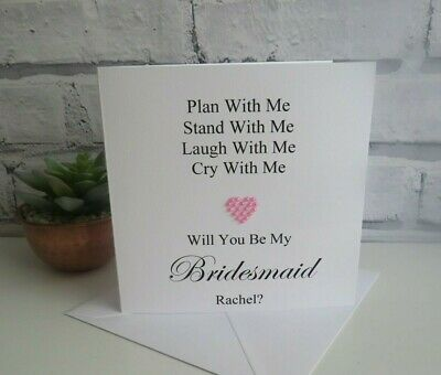 Flower Girl Maid of Honour Personalised Will You Be My Bridesmaid Card