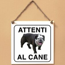 Old English Bulldog 4 Attenti al cane Targa cane cartello ceramic tiles