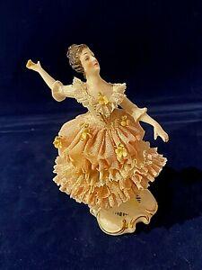 Vintage German Dresden Lady Lace Figurine