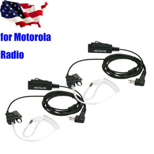2pcs 2-Pin Air Tube Headset //Earpiece for Motorola GP88 300 2000 CT150Radios US
