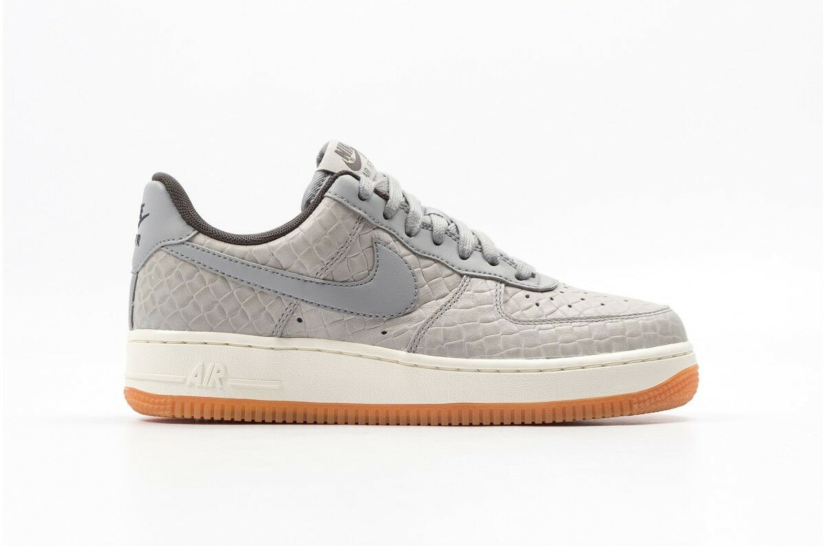 616725-008 Women's Nike Air Force 1 '07 PRM Shoe  WOLF GREY/ WOLF GREY