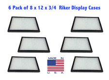 6 Pack Of 8 X 12 X 34 Riker Display Cases Boxes For Collectibles Jewelry Amp More