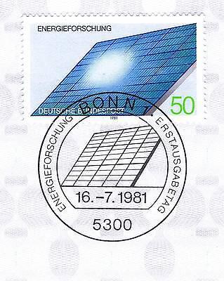 Brd 1981: Energieforschung Nr 1101 Mit Dem Bonner Ersttagssonderstempel! 1a! 156 Attraktive Mode