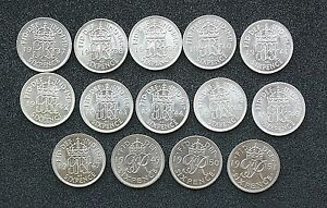 George-VI-Sixpences-1937-to-1952-Bright-Uncirculated-choose-your-date
