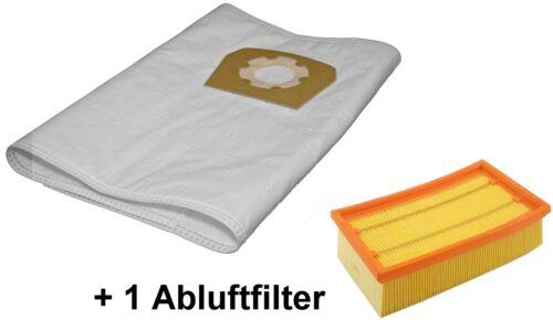 1 Filter passend Würth ISS 35 ISS 55 S ISS 45 M 10 Staubsaugerbeutel Vlies