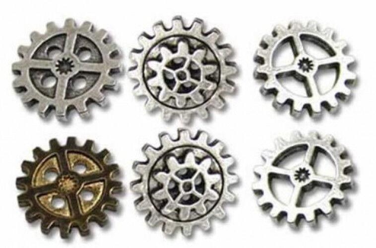 Gearwheel - Medium Shirt Buttons By Alchemy Empire  Steampunk