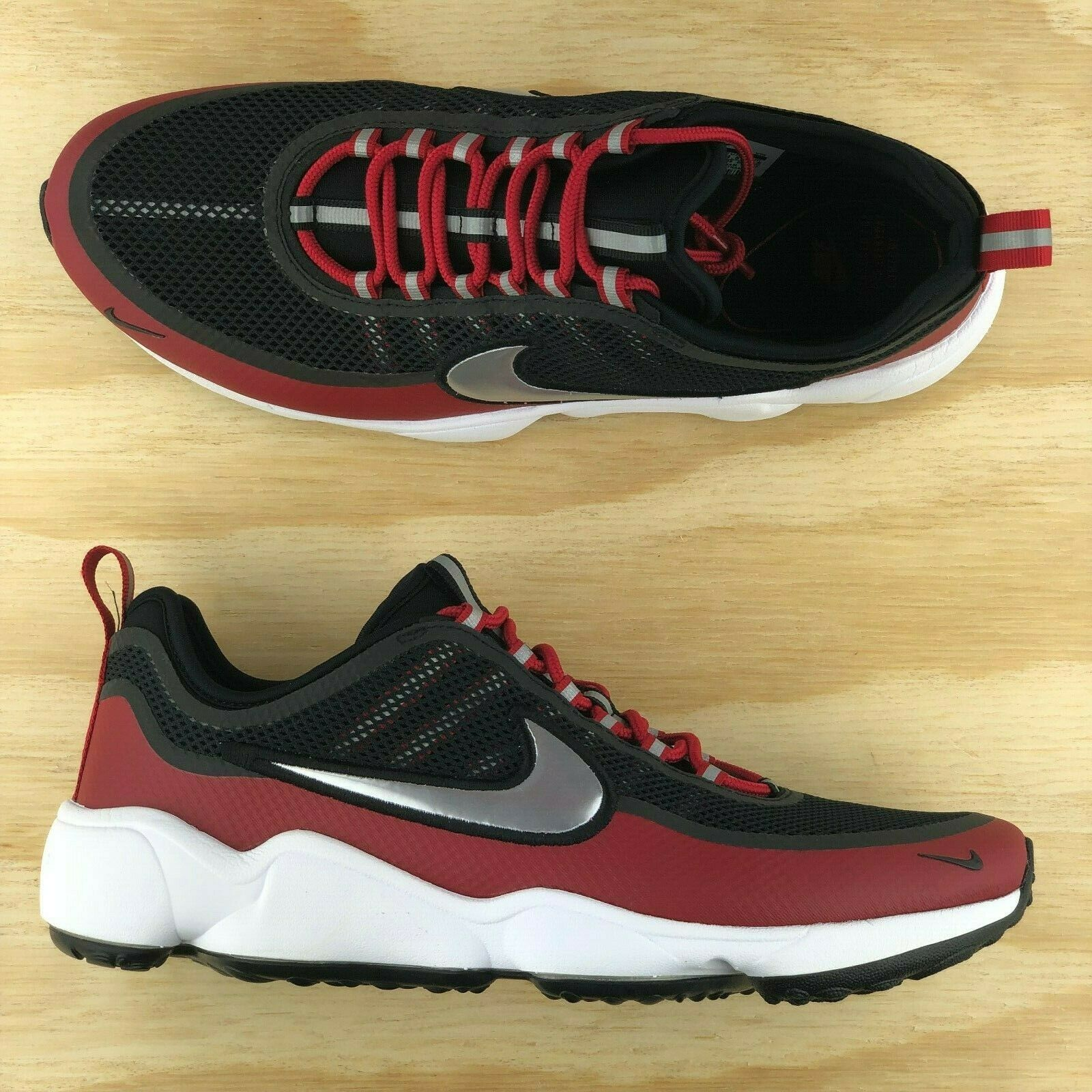 cheaper 447e9 fda65 Nike Air Zoom Spiridon Ultra Black Red White Running Shoes 876267 005 Multi  Size