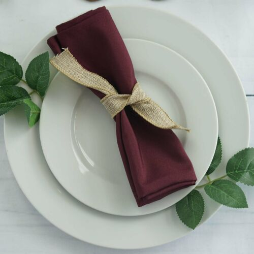 """10 Burgundy Polyester 20x20/"""" Wedding NAPKINS Party Table Linens Decorations"""