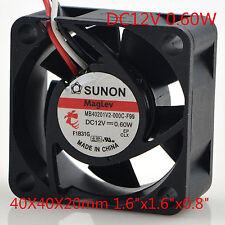for SUNON MB40201V2-000C-F99 12V 0.60W 4CM Cooling Fan