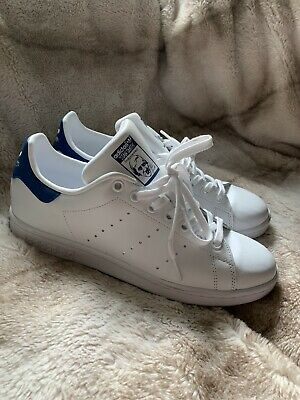 Adidas Stan Smith White & Equipment Blue Big Kid's Size: 7 | eBay