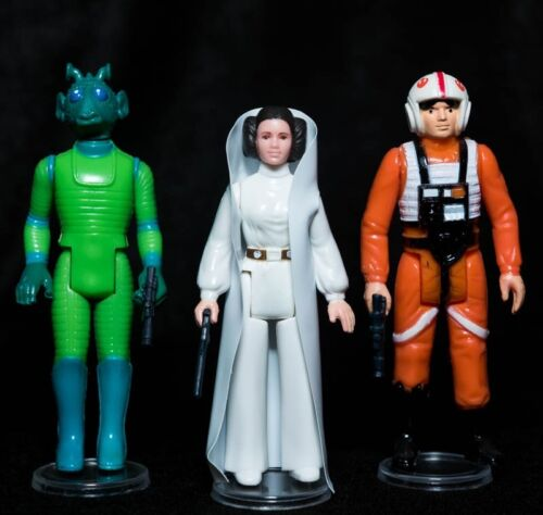 VINTAGE Star Wars x10 NUOVO di zecca Display sta per ACTION FIGURE KENNER Palitoy