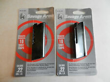 Savage Factory 10 Round 22 LR Magazines; 2 Mags;  Fits Mod 62, 64, & 954;  30005